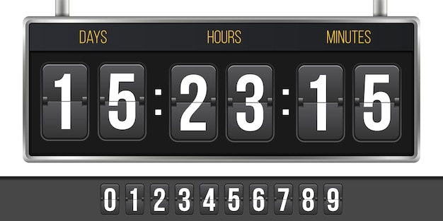 Digital clock timer, countdown, coming soon.