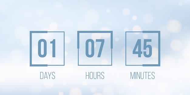 Digital clock timer, countdown