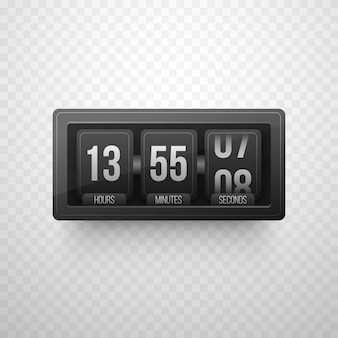 Digital clock timer in metallic color for coming soon or under construction design.
