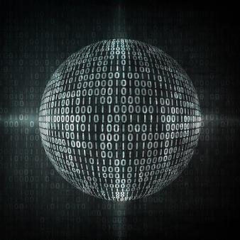 디지털 코드 배경, 추상 그림입니다. 세계화의 개념