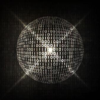デジタルコードの背景、抽象的なイラスト。グローバリゼーションの概念