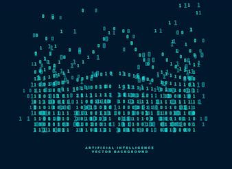 技術と人工知能のデジタルコード図