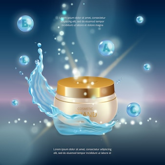 Digital  collagen oil essence mockup on, with your brand, ready for print ads or magazine .