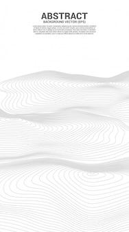 와이어 프레임 디지털 컨투어 커브 도트 및 라인 리플 및 웨이브. 미래 기술 개념에 대 한 추상적 인 배경