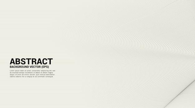 디지털 윤곽 곡선 점 및 선 잔물결 및 와이어 프레임이있는 웨이브