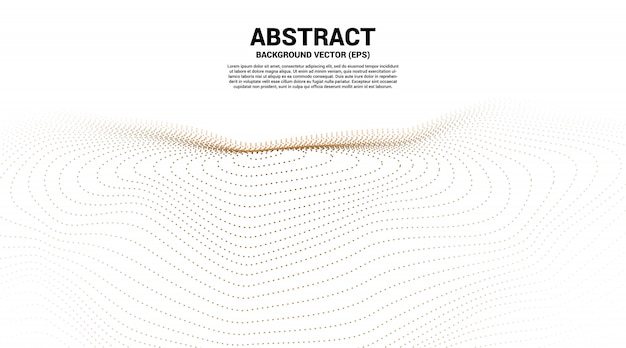 Digital contour curve dot and line ripple and wave with wireframe . abstract background for futuristic technology concept
