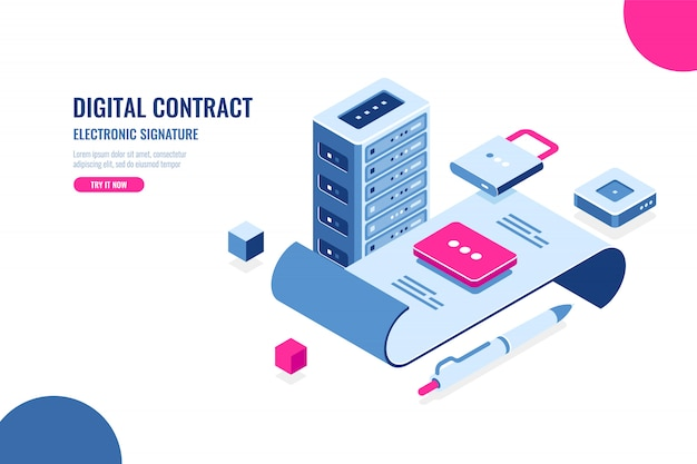 Digital contract, electronic signature