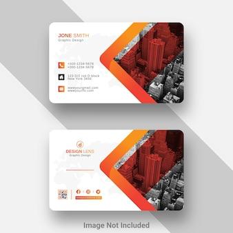 Digital corporate business card design template