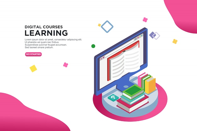 Digital courses learning banner