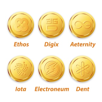 Digital currency vector gold