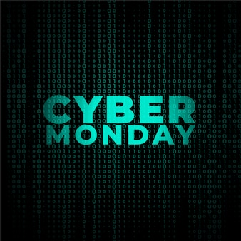 Digital cyber monday technology style banner  design