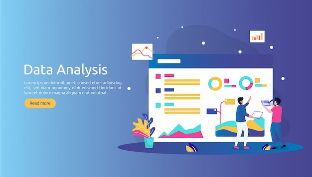 Digital data analysis concept for market research and digital marketing strategy.