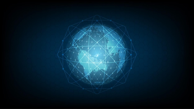 Digital data globe - hi-tech communication
