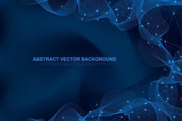 Digital data visualization design illustration.