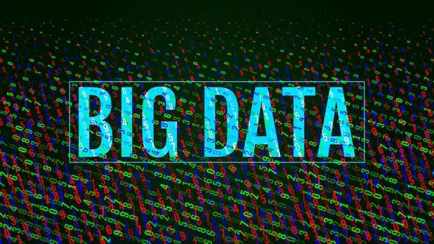 Digital decimal code matrix background.