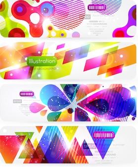 Digital decorative abstract backdrop web