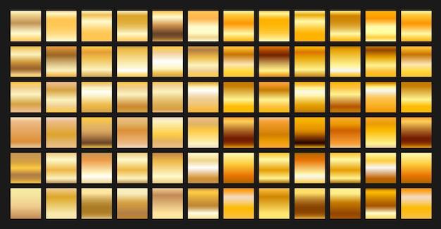 Digital design golden gradient effect set