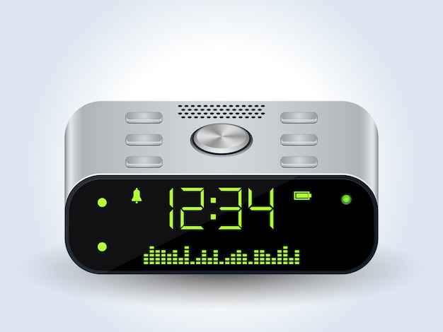 Digital desktop clock realistic