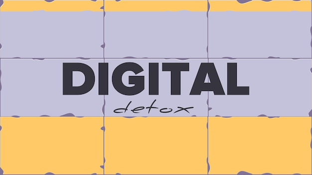 Digital detox banner. the concept of banning devices, device free zone, digital detox.