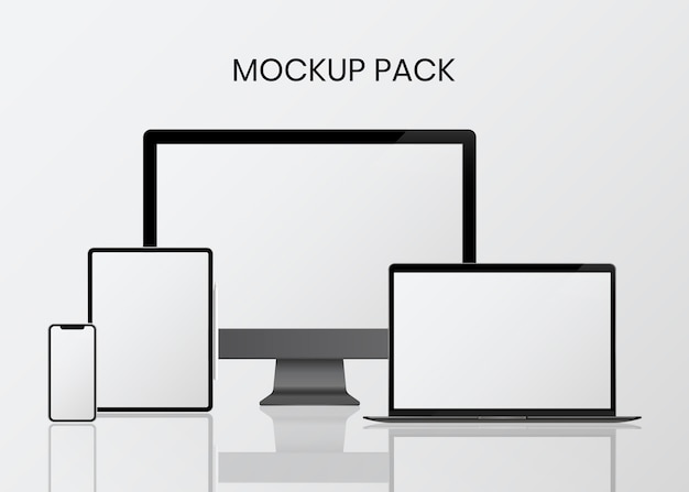 Digital device mockup set