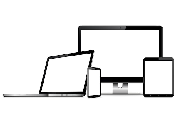 Digital devices with blank screen