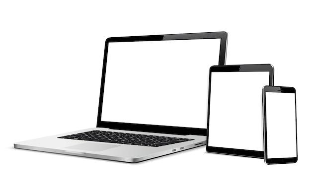 空白の画面を持つデジタルデバイス