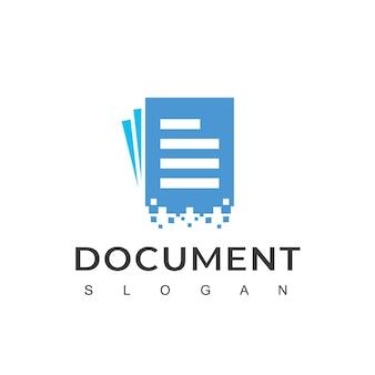 デジタルドキュメントのロゴデザインテンプレート