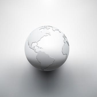 Digital earth image of globe