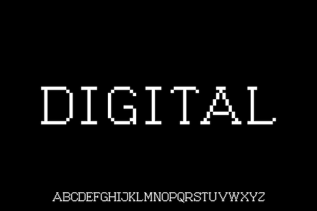 Digital font display  alphabet