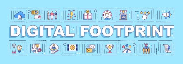 Digital footprint word concepts banner