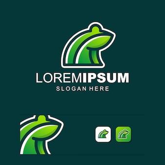 Digital frog media logo vector