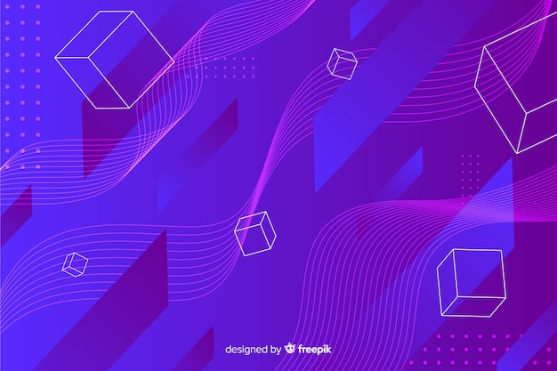 Digital geometric shapes background