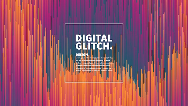 Digital glitch effect vector abstract background