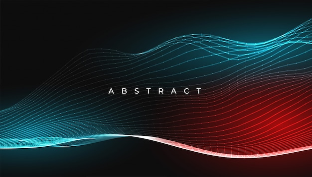 Digital glowing abstract lines waves background design
