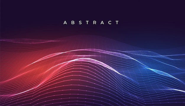 Digital glowing abstract wavy lines background design
