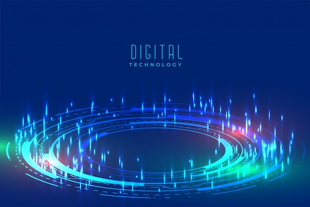 Digital glowing technology background with furutistic pattern