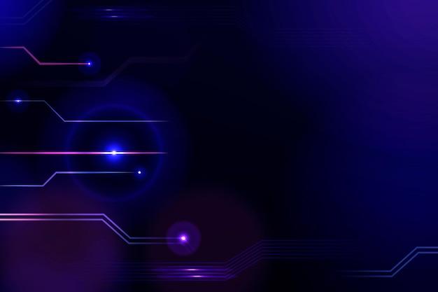 보라색 톤의 디지털 그리드 기술 배경