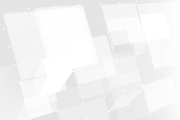 Digital grid technology background vector in white tone