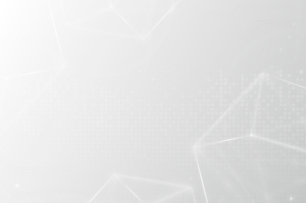 Digital grid technology background in white tone