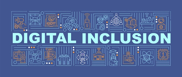 Digital inclusion word concepts banner