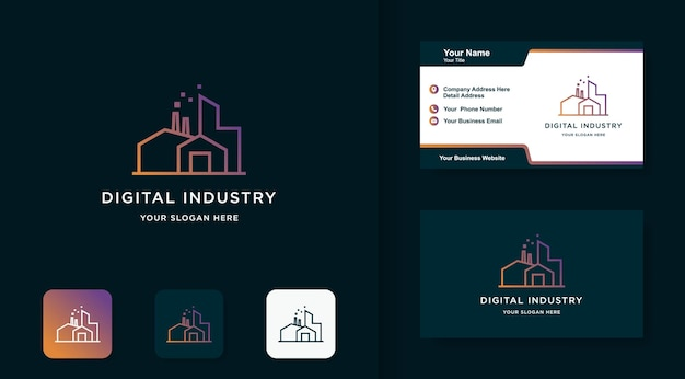 Digital industry logo and business card