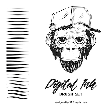 Digital ink, brush set