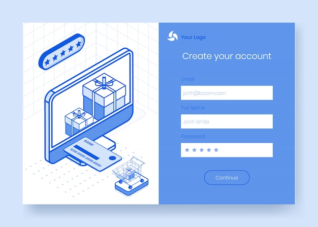 Digital isometric design concept set of online store delivery app 3d icons