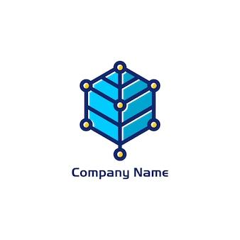 Digital leaf logo design