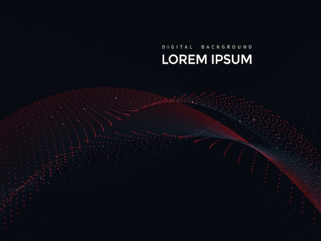 Digital lines on black background, abstract mesh design
