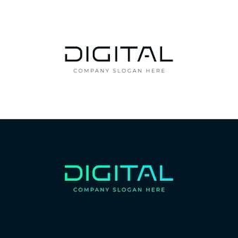 デジタルロゴデザインデジタルレタリングワードベクトルエンブレムロゴタイプテンプレート
