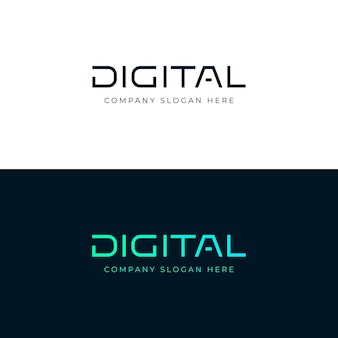 Digital logo. digital lettering word.  emblem. logotype template