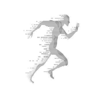 Digital man running