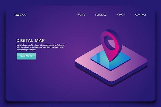 Digital map landing page