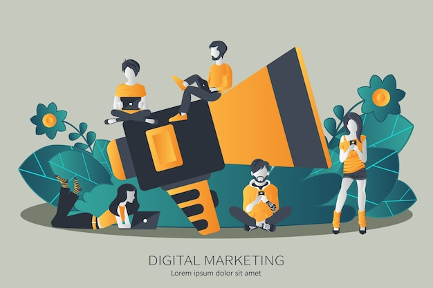 Digital marketing and advertising concept